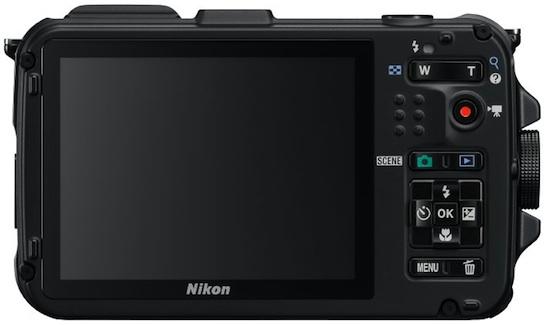 Nikon COOLPIX AW100 Rugged Digital Camera - Back