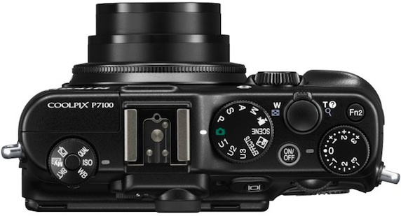 Nikon COOLPIX P7100 Digital Camera - Top