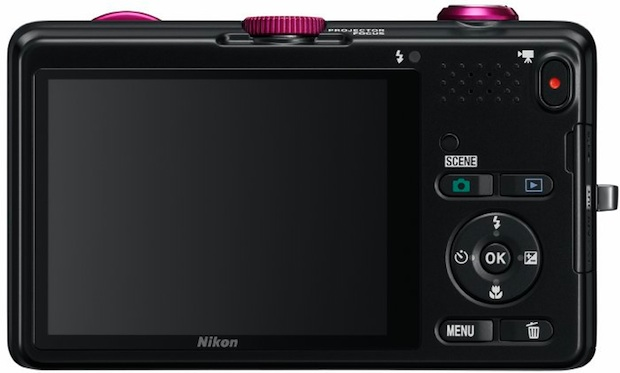Nikon COOLPIX S1200pj Digital Camera with Built-in Projector - Back