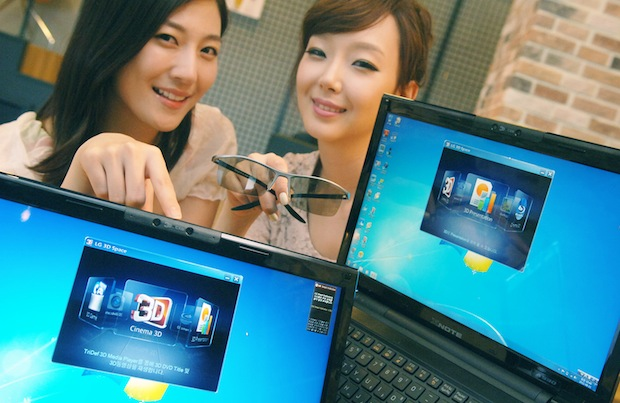 LG A530 Notebook with 3D Webcam and glasses
