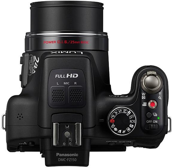 Panasonic DMC-FZ150 Lumix 3D Digital Camera - top