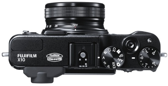 FujiFilm X10 Digital Camera - top
