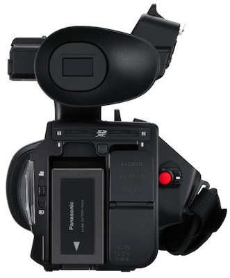 Panasonic HDC-Z10000 Professional 2D/3D Camcorder - back