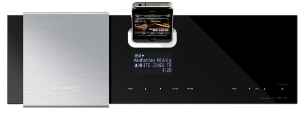 Onkyo iOnly Play ABX-100 iPod/iPhone Speaker Dock - top