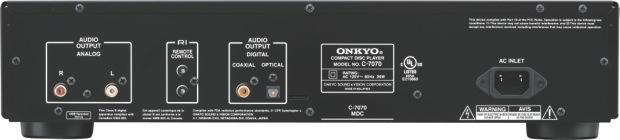 Onkyo C-7070 CD Player - Back