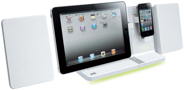 JVC UX-VJ3 Dual Dock for iPod and iPad - white