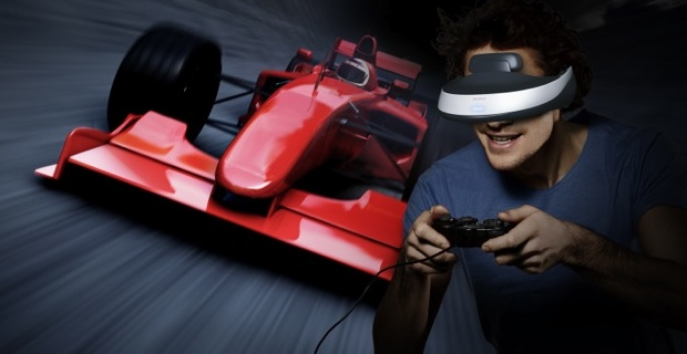Sony HMZ-T1 Personal 3D Viewer Gaming Simulation