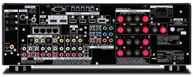 Sony STR-DA3700ES A/V Receiver - Back