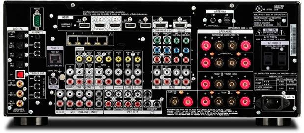 Sony STR-DA5700ES A/V Receiver - back
