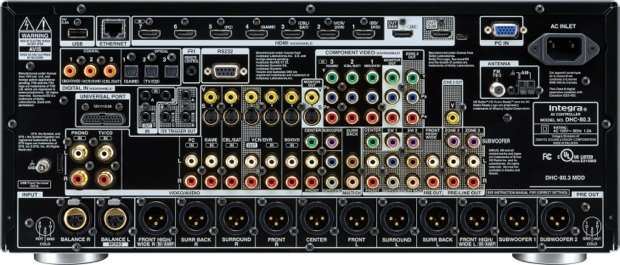 Integra DHC-80.3 THX-Ultra2 Plus Network AV Preamplifier/Processor - back