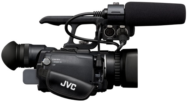 JVC GY-HM150 ProHD Camcorder - Side