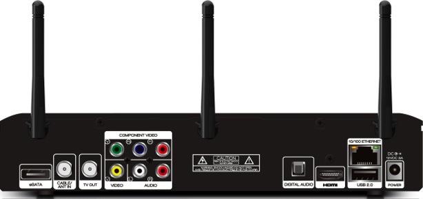 Channel Master TV CM-7400 DVR with VUDU - Back