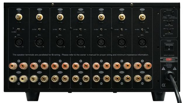Sherbourn PA-7350 Multichannel Amplifier - Back