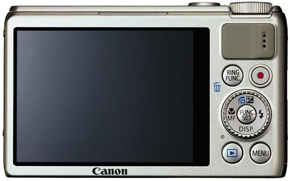 Canon PowerShot S100 Digital Camera - back