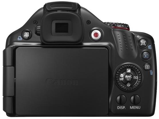 Canon PowerShot SX40 HS Digital Camera - back