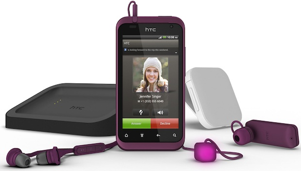 HTC Rhyme Smartphone - plum with accessories