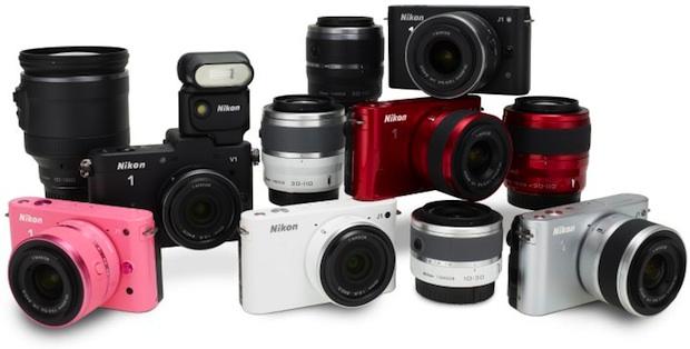 Nikon J1 Interchangeable Lens Digital Camera Colors and Lenses