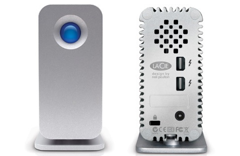LaCie Little Big Disk Thunderbolt Series Hard Drive - Front and Back