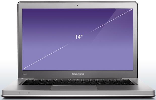 Lenovo IdeaPad U400 Laptop - Front