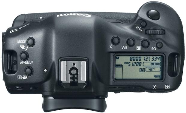 Canon EOS-1DX Digital SLR Camera - top