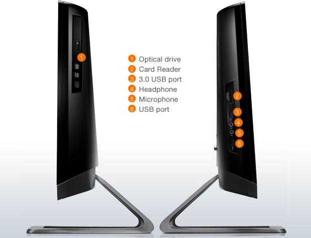 Lenovo C325 All-In-One Desktop PC - Sides