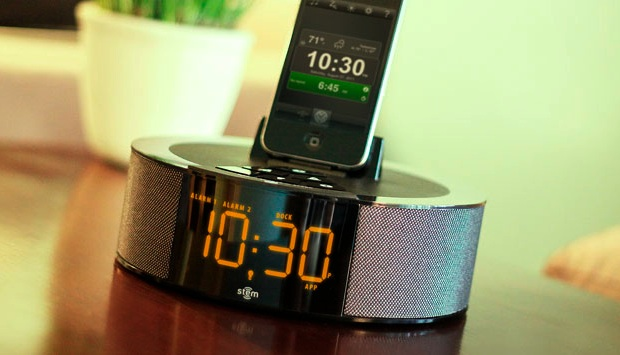 Stem Innovation Time Command Mini Alarm Clock Dock for iPod