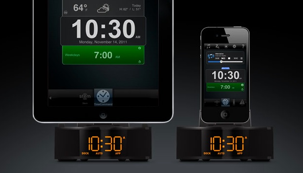 Stem Innovation Time Command Mini Alarm Clock Dock for iPad and iPhone