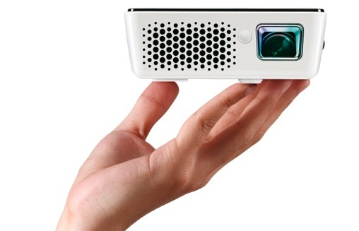 BenQ Joybee GP2 Mini Projector in hand