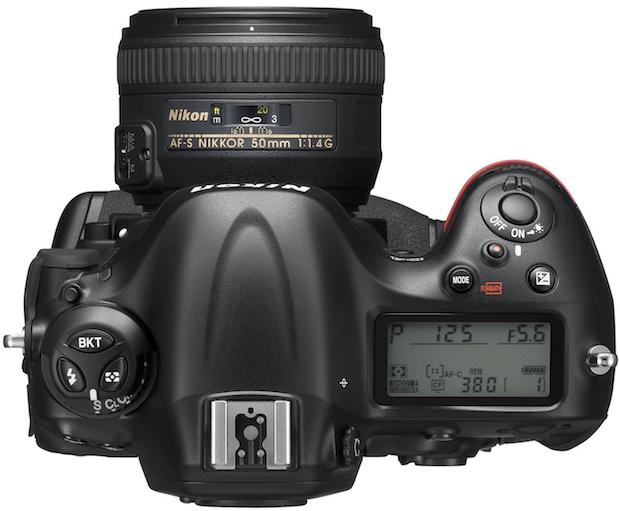 Nikon D4 Digital SLR Camera - top