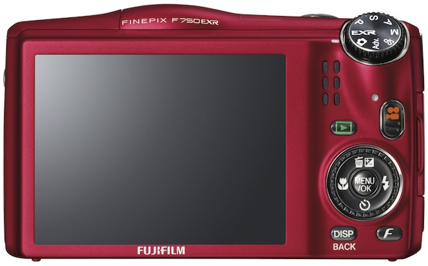 FujiFilm FinePix F750EXR Digital Camera - back