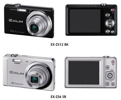Casio EX-ZS12, EX-ZS6 Exilim Digital Cameras