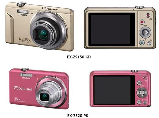 Casio EX-ZS150, EX-ZS20 Exilim Digital Cameras