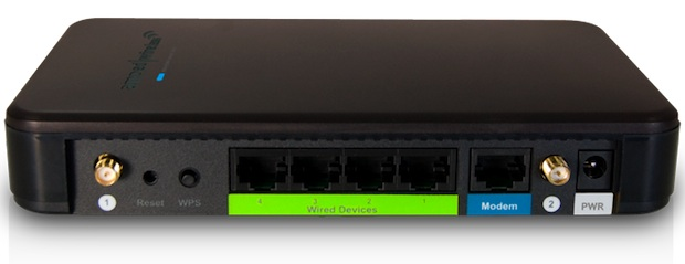 Amped Wireless R10000G Wireless-N Router - back