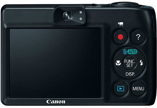 Canon PowerShot A1300 Digital Camera - Back