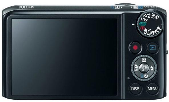 Canon PowerShot SX260 HS Digital Camera - Back
