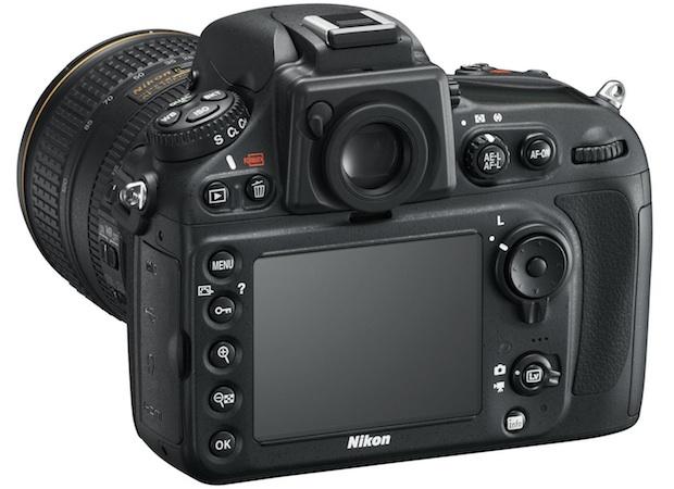 Nikon D800 HD-SLR Digital Camera - Back Angle