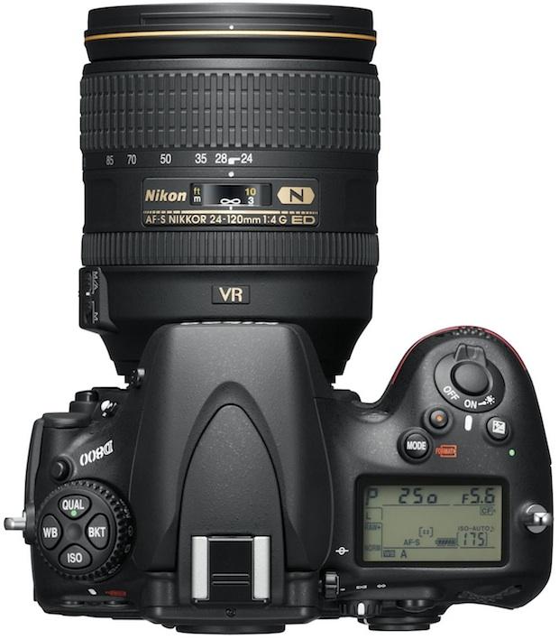 Nikon D800 HD-SLR Digital Camera - Top