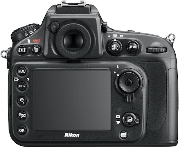 Nikon D800 HD-SLR Digital Camera - Back