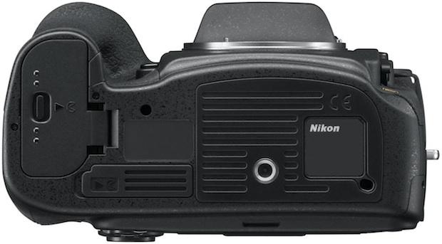 Nikon D800 HD-SLR Digital Camera - Bottom