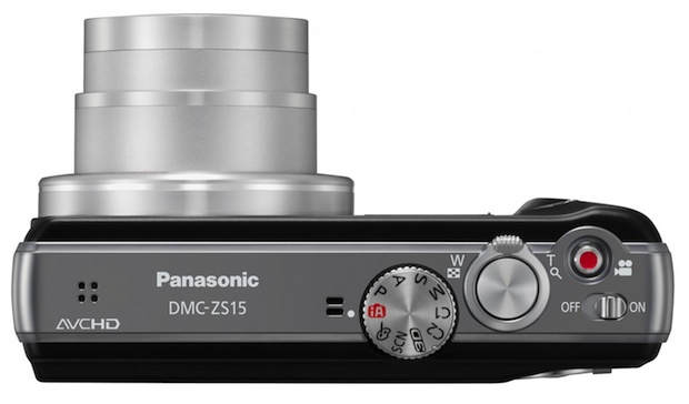Panasonic LUMIX DMC-ZS15 and Digital Camera - top