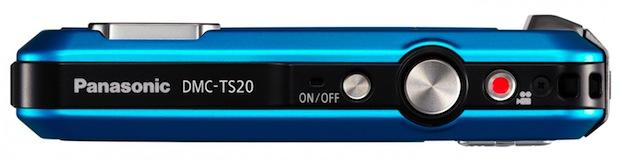 Panasonic LUMIX DMC-TS20 Digital Camera - Top
