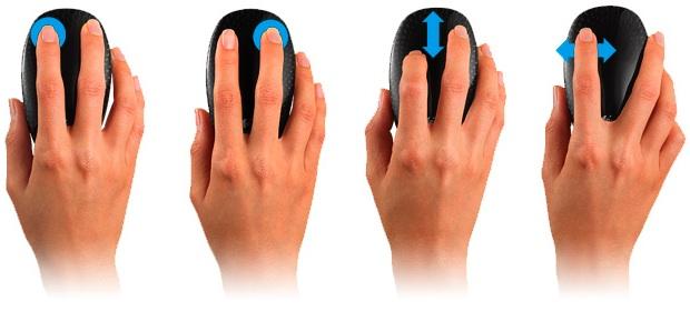 Logitech Touch Mouse M600 - Gestures