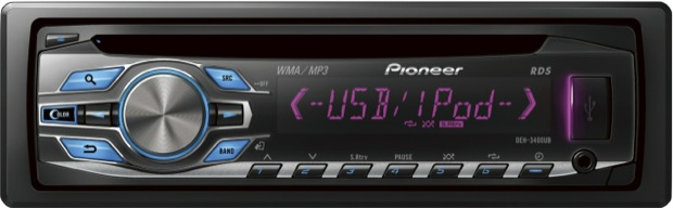 Pioneer DEH-3400UB Single-CD Car Receiver