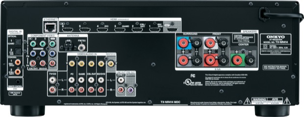 Onkyo TX-NR414 5.1-Channel Network Receiver - Back