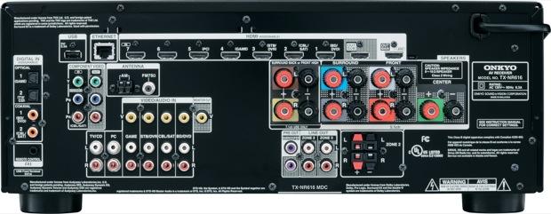 Onkyo TX-NR616 THX-Certified 7.2-Channel Network Receiver - Back