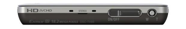 Sony DSC-TX66 Cyber-shot Digital Camera - Top