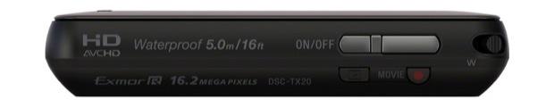 Sony DSC-TX20 Cyber-shot Digital Camera - Top