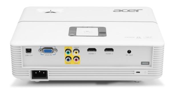 Acer H6500 DLP Projector - Back