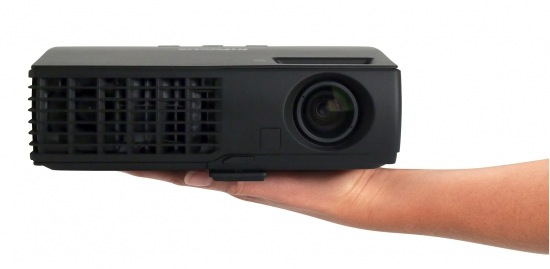 InFocus IN1120 Series Mobile Projector in hand
