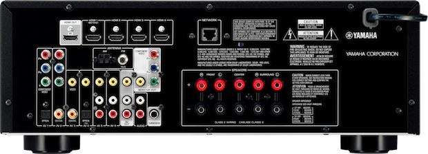 Yamaha RX-V473 A/V Receiver - Back